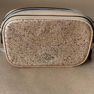 New Coach Gold Glitter Crossbody